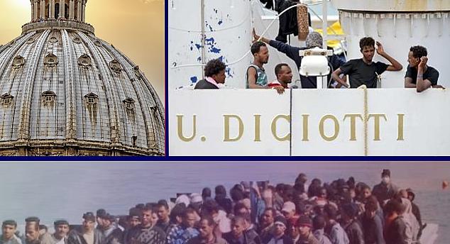 La Chiesa, il passato, il presente e la nave Diciotti